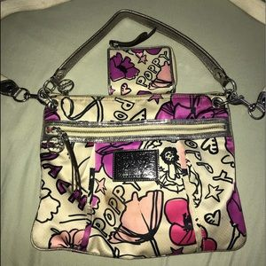 Authentic Coach Poppy bag and wallet set